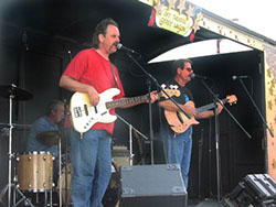 Bob Christensen, Mark Dodge, and Kevin Miller at the Stanwood-Camano Music Festival show, Sept. 7, 2002