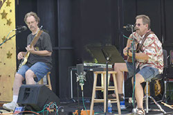Bob Christensen & Mark Dodge at Art by the Bay on Camano Island, July 2005